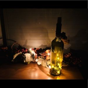 Wine Bottle Accent Light plug in hand crafted